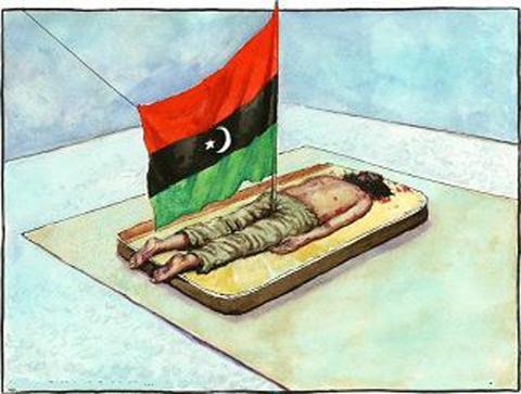 راية الثورة الأسلامية السلفية في مصراتة الليبية  وأخلاق الثوار والقذافي
