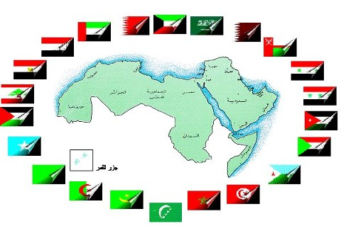 خارطة الامة العربية